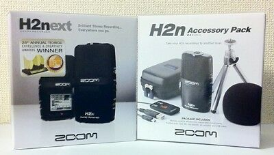 NEW ZOOM H2n Handy Portable Recorder PCM / Accessoary Kit APH-2n From JAPAN • 159.26£