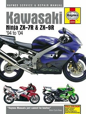NEW Haynes Manual For Kawasaki ZX-7R ZX750P 96-03,ZX-9R ZX900B,C,D,E 94-04 • 29.12£