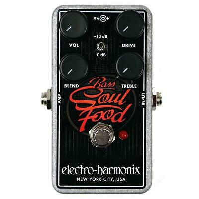 Electro-Harmonix Bass Soul Food Transparent Overdrive Guitar Effects Pedal • 69.88£