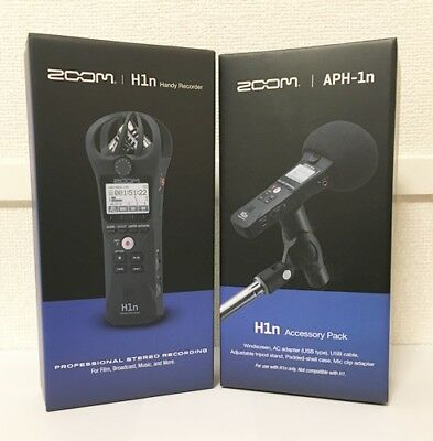 NEW ZOOM Handy Recorder H1n With Accessory Pack APH-1n SET From JAPAN • 118.76£