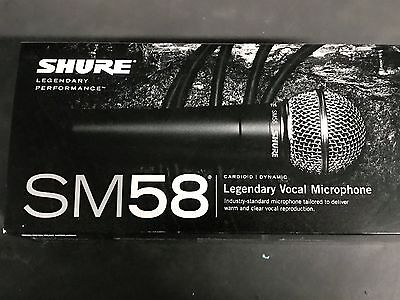 Shure SM58-LC Dynamic Wired XLR Professional Microphone • 72.34£
