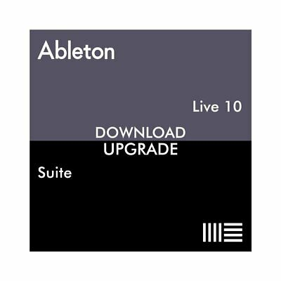 Ableton Live 10 Suite From Live 10 Standard (Download) - DAW Software Mac PC • 263£