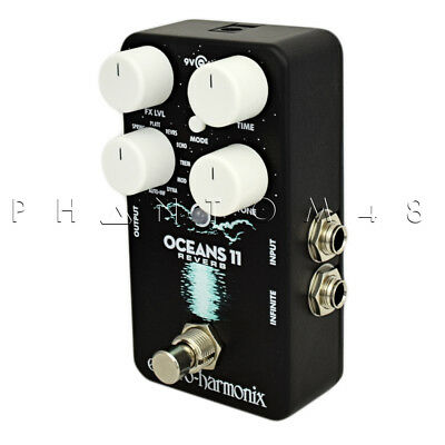 Electro-Harmonix Oceans 11 Reverb Guitar Pedal.  Compact With 11 Reverb Styles G • 108.40£