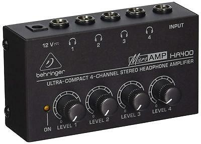 Behringer HA400 Microamp 4 Channel Stereo Headphone Amplifier • 31.99£