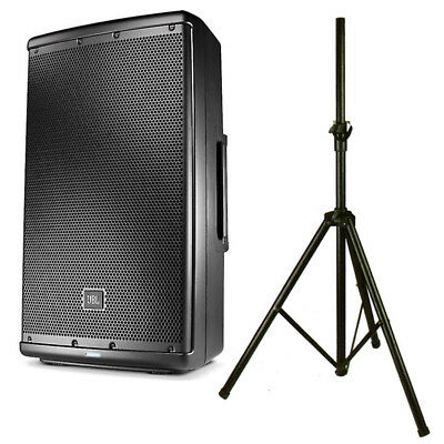 JBL EON 612 1000W Active PA Speaker Or Monitor + 2ch Mixer + Stand 2Yr Warranty • 435£