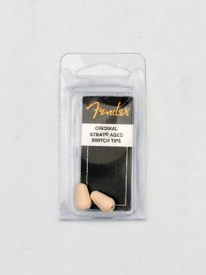 Fender Strat Pickup Selector Switch Tips Aged White Pack Of Two New 099-4938-000 • 9.99£