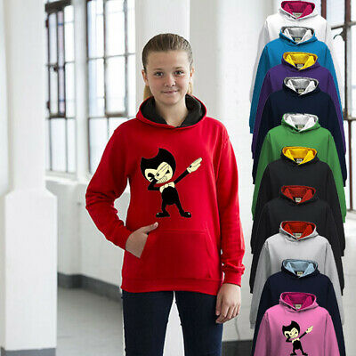 Bendy And The Ink Machine Childrens Hoodie Boys Or Girls Premium Quality Dab • 24.95£