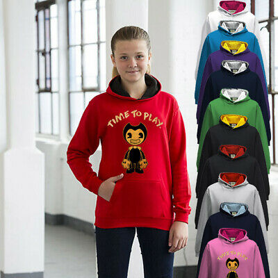 Bendy And The Ink Machine Childrens Hoodie Boys Or Girls Premium Quality Play • 24.95£