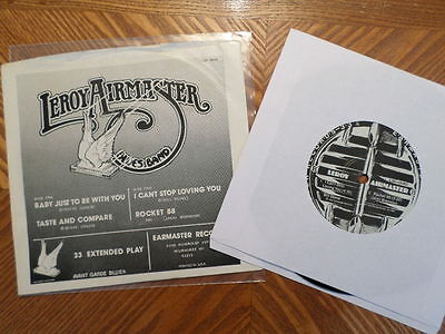 EARMASTER 7  33 RECORD/ LEROY AIRMASTER BLUES BAND/4 SONG EP/ EX VINYL W/PIC SLV • 10.69£