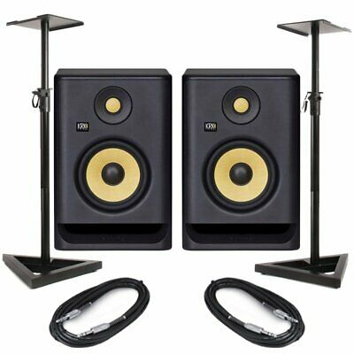 KRK Rokit RP5 G4 Pair Active DJ Studio Monitor Speakers With Pro Stands & Cables • 290.50£