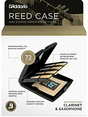 DAddario Woodwinds RVCASE04 Reed Storage Case with Humidity Control Pack for ...