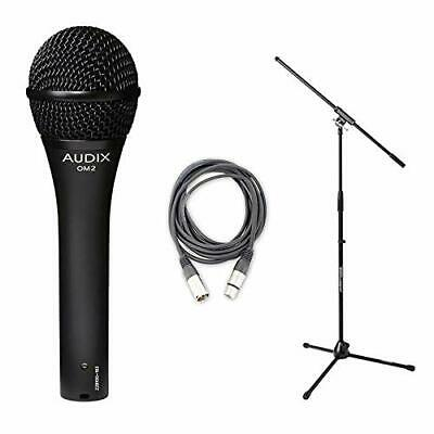 Audix OM-2 Dynamic Vocal Microphone OM2 Instrument With Stand And Cable • 128.57£