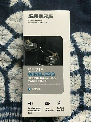 SHURE SE215 Wireless Bluetooth Sound Isolating Earphones W/mic, Clear • 89.99£