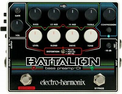 NEW Electro-Harmonix Battalion Effects Pedal Bass Preamp & DI From JAPAN • 135.36£