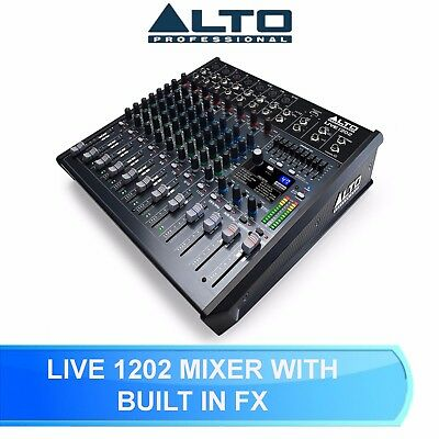 Alto Live 1202 Professional 12 Channel / 2 - Bus Karaoke Band Mixer With Usb • 219£