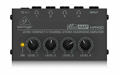 Behringer HA400 Microamp 4 Channel Stereo Headphone Amplifier • 28.51£
