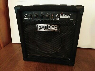 Fender RUMBLE 15 Practice Bass Amp Combo Amplifier  • 65£
