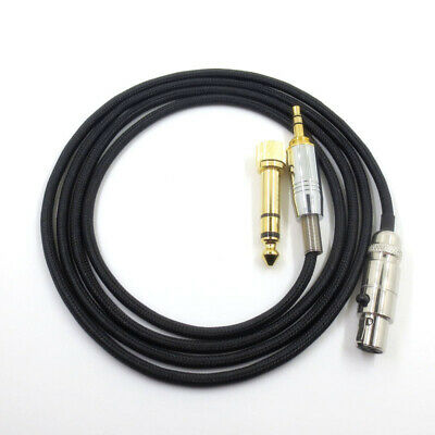 3.5mm Headphone Cable Wire 1.2m Length Fit For AKG Q701 K712 K240 K141 K271 K702 • 10.33£