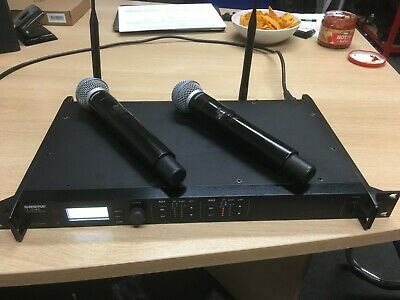 Shure ULXD Dual Receiver + 2 × Shure Ulxd2/Beta 58a  632-696 Mhz TOP Condition • 1,680£