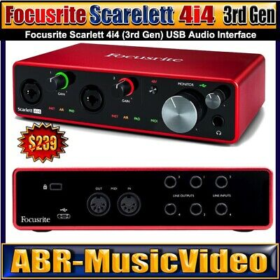Focusrite Scarlett 8i6 (3rd Gen) Audio Interface (3 Year Manufacture Warranty) • 212.09£