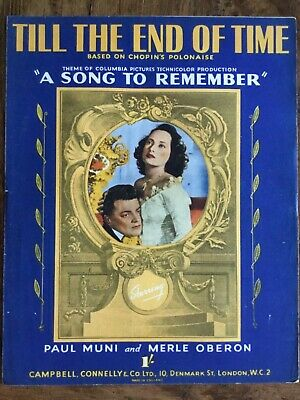 Sheet Music Art Frame Picture Film Till The End Of Time A Song To Remember