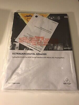 Behringer Ultragain Digital ADA8200 Manual • 6.22£