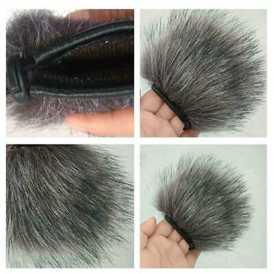 For Zoom H5 H6 Professional Voice Recorder Windproof Sleeve Grey Fur V0K1 • 2.90£