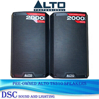 Pair Alto Ts310 2000w 10  2 Way Active Class D Bi Amplified Speakers Pre Owned • 380£