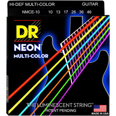 DR Strings NMCE-10 Hi-Def Neon Multi-Color K3 Coated Guitar Strings 10-46 • 7.49£