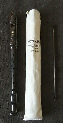 Yamaha YRS-24B Soprano/Descant Recorder Baroque, Brown, With Bag And Cleaner • 4.99£