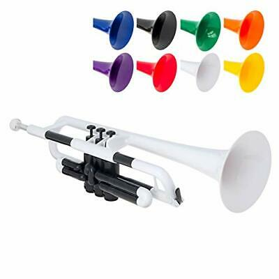 PBone Jiggs PTrumpet Plastic Trumpet W/Gig Bag And 3C And 5C Mouthpieces Whit... • 63.06£