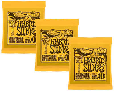 Ernie Ball Hybrid Slinky Nickel Wound Sets.009 - .046, Bundle Of 3 Sets • 26.72£