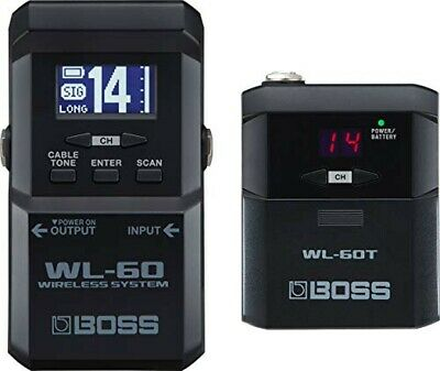 BOSS WL-60 Wireless System For Guitar And Bass Receiver, Transmitter Set • 392.45£