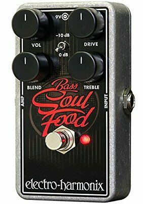ElectroHarmonix Bass Soul Food Bass Distortion Effects Pedal • 143.87£