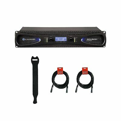 Crown Audio XLS 1502 Stereo Power Amplifier (525W At 4 Ohm) With XLR Cables • 422.29£