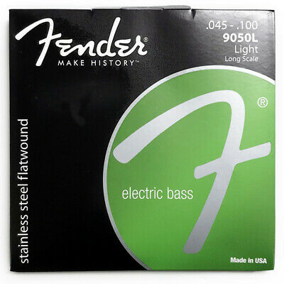 Fender 9050L Flatwound Long Scale Electric Bass Strings (45-100) • 20.94£