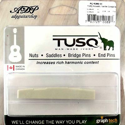 Nut Graph Tech Tusq PQ-9280-C0 Bridge Guitar Acoustic Bridge Saddle • 14.77£