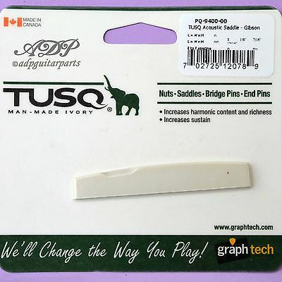 Nut Graph Tech Tusq PQ-9400-00 Bridge Gibson Acoustic Guitar Bridge Saddle • 14.77£