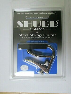 Shubb C1 Acoustic/electric Guitar Capo Polished Nickel £19.50 • 19.50£