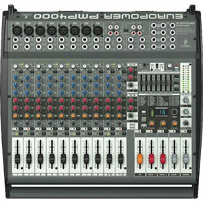 Behringer PMP4000 1600 Watt 16 Channel Mixer With Effects Processor & Feedbac... • 309.99£
