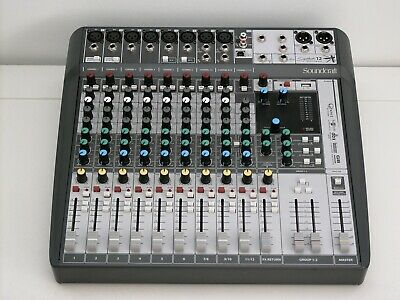 Soundcraft Signature 12 MTK Mixer W/ 14 In/12 Out Recording USB Audio Interface • 297.28£