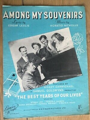 Sheet Music Art Frame Film Movie Among My Souvenirs Best Years Of Our Lives Rko