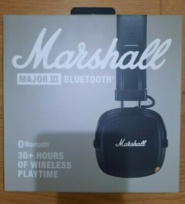 Marshall Major III Bluetooth Headphones Black • 20.90£