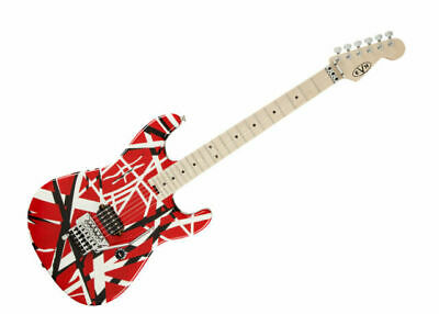 EVH Striped Series 6 String Electric Guitar - Red With Black Stripes • 974.15£