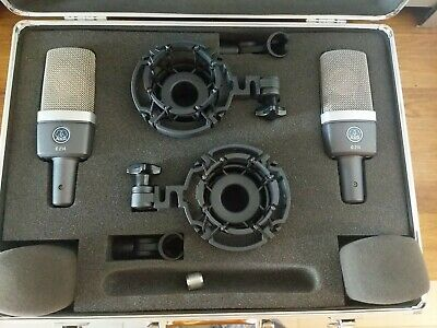 Akg C214 Condenser Microphone Matched Pair Studio Audio  • 562.10£