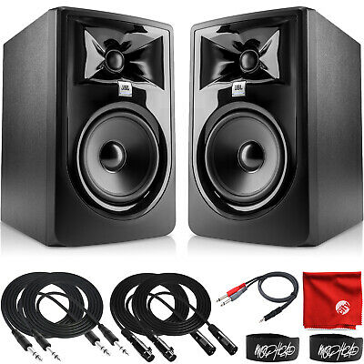 JBL Professional 305P MkII 5-Inch 2-Way Powered Studio Monitor Pair With Cables • 247.97£