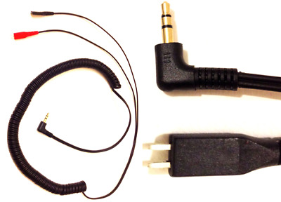 Replacement Cable For Sennheiser HD25-SP HD250 HD265 HD414 HD420 HD425 2m Coiled • 6.99£