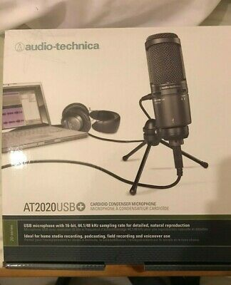 Audio-Technica AT2020USB PLUS USB Microphone - Black COLLECTION ONLY • 100£