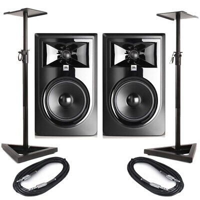 JBL LSR306P MKII (Pair) With Stands & Cables • 410.50£