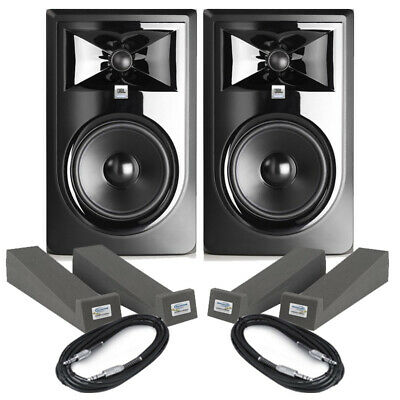 JBL LSR306P MKII (Pair) With Isolation Pads & Cables • 375£